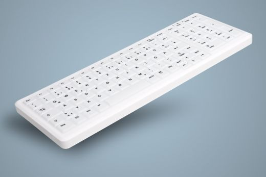 AK-C7000F-Ux-W, Disinfectible Hygiene Keyboard with Numeric Pad, white, wired, optional fully sealed