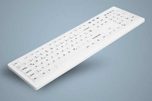 AK-C8100F-Ux-W, Sanitizable PC Keyboard, white, wired, optional fully sealed