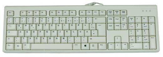 Hochwertige waschbare Office und Desktop Tastatur Weiss