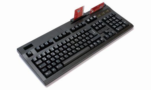 Hochwertige Tastatur mit Magnet- und Chipkartenleser