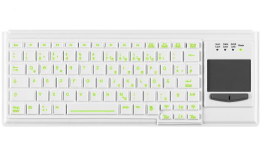 Medical Backlit Keyboard with Touchpad