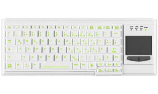 Beleuchtete Medizin / Krankenhaus Tastatur mit Touchpad