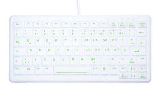Compact Keyboard for Hygiene and Disinfection