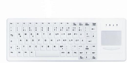 Desinfizierbare Funk Tastatur mit Touchpad, geeignet für Hygiene