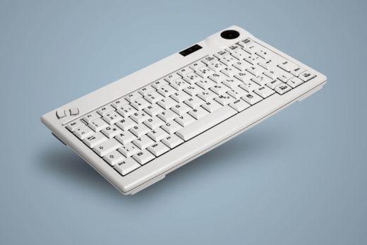 AK-440-Tx-W, kabelgebundene Tastatur mit mechanischem Trackball, weiß