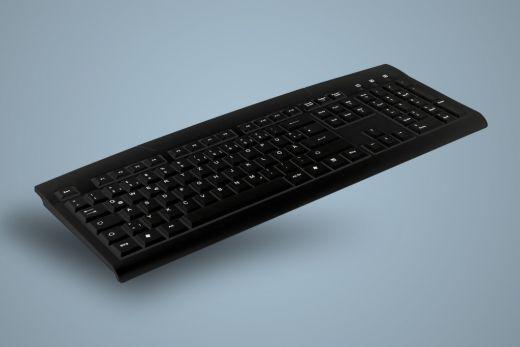 AK-8000-UV-B, waschbare Office und Desktop Tastatur, schwarz, kabelgebunden