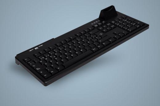 AK-8820S-U-B, kabelgebundene Tastatur mit Magnet- und Chipkartenleser