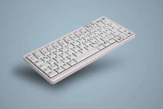 Hochwertige kompakte Tastatur, Weiß