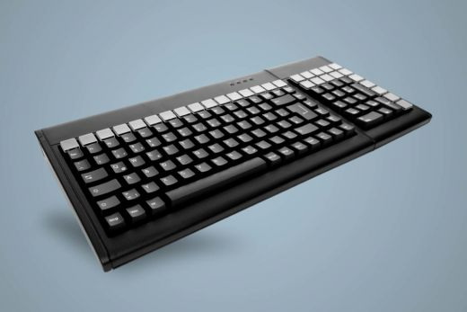 AK-S7002-UW-B, programmierbare, kabelgebundene Tastatur mit Nummernblock, schwarz