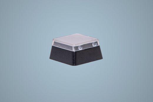 Tastenknopf, Grösse 1x1, mit abnehmbarer transparenter Tastenkappe