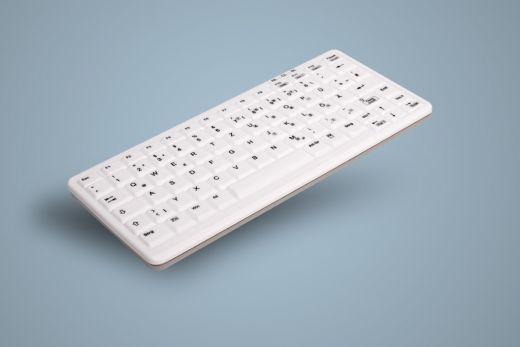 AK-C4100F-Ux-W, desinfizierbare Tastatur, weiß, kabelgebunden, wahlweise versiegelt