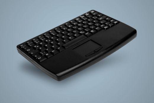 AK-4450-GU-B, Tastatur mit Touchpad an der Vorderseite, schwarz, kabelgebunden