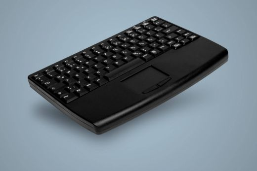 Hochwertige Funk Tastatur mit Touchpad an der Vorderseite, schwarz