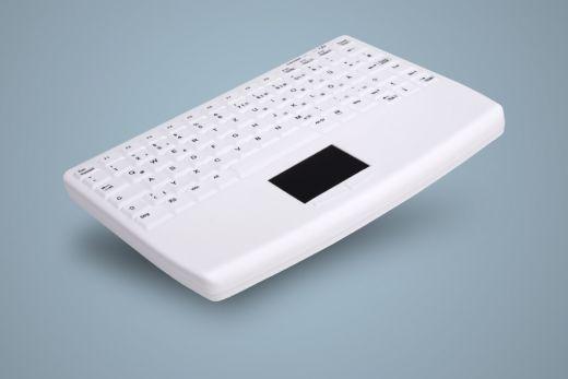 Geschützte Funk Tastatur IP68 mit Touchpad an der Vorderseite, weiß