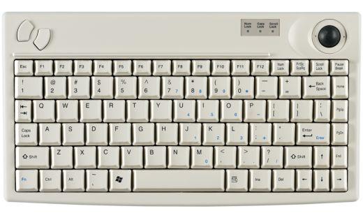 Hochwertige kompakte Tastatur mit integriertem Trackball