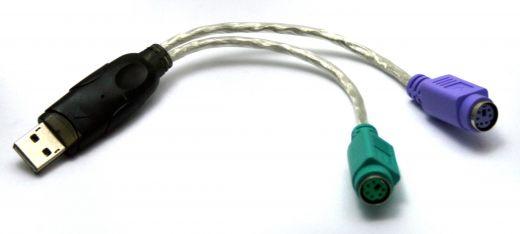 Aktiver Konverter PS/2 (Buchse) auf USB (Stecker)