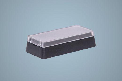 Austausch Tastenknopf mit abnehmbarer transparenter Tastenkappe, Grösse 2x1
