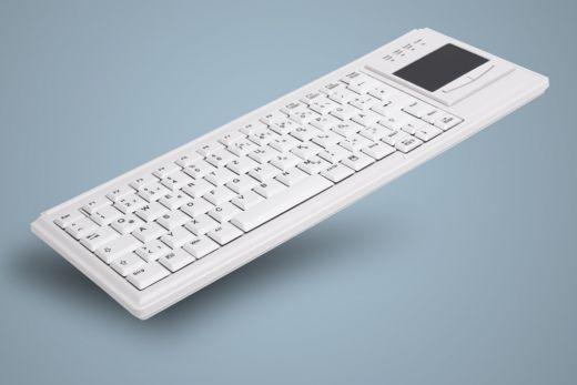 AK-4400-Gx-W, kabelgebundene Tastatur mit integriertem Touchpad, weiß