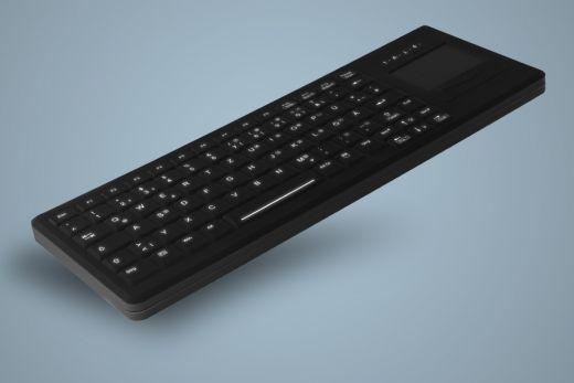 Beleuchtete Desinfizierbare Tastatur mit Touchpad, geeignet für hygienekritische Bereiche