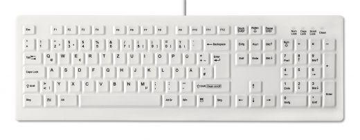 Desinfizierbare PC Tastatur für Reinigung und Hygiene, IP68