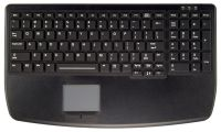 Ultra flat backlit medical keyboard with touchpad and numeric pad
