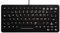 AK-CB4110F-US-B, Compact Keyboard for Hygiene and Disinfection Black, IP68
